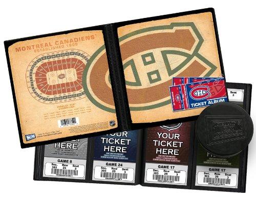 NHL Montreal Canadiens Vintage Design Ticket Album, One Size ()