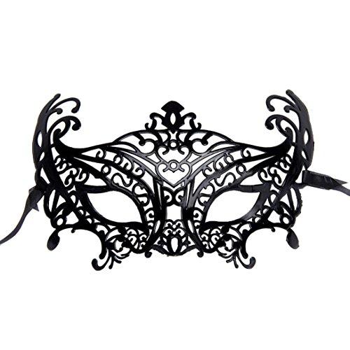 Luweki Venetian Hollow Masquerade Halloween Mask Black