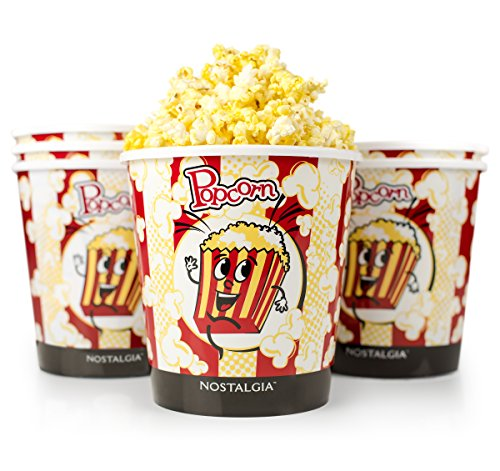Nostalgia PPB600 4-Quart Reusable Popcorn Bucket - 6 Pack