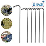 JOZZ 6 Pack Canopy Tent Stakes, Heavy Duty Garden Gazebo Pegs, Metal Stoppers for Outdoors Camping Tent by