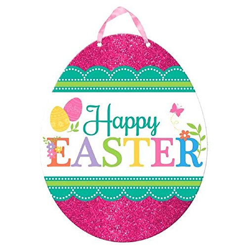 Egg-stra Special Happy Easter Egg Sign Party Decoration, Fiberboard , 11