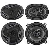 2) Rockville RV69.4A 6x9 1000w 4-Way Car Speakers+2) 5.25 600w 3-Way Speakers