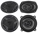 "2) Rockville RV69.4A 6x9"" 1000w 4-Way Car Speakers+2) 5.25"" 600w 3-Way Speakers"