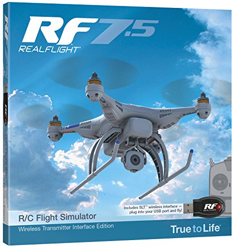 Great Planes RealFlight 7.5 RC Flight Simulator with Wireless SLT Interface(Without transmitter)