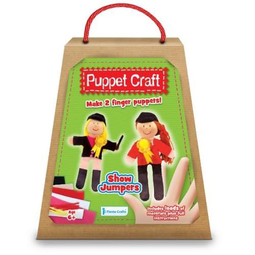 Kit de marionnettes à doigt à fabriquer : cavalières