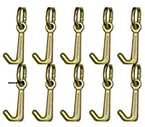 (10) BA Products grade 70 Mini J Hook w/link #11-7J-L USA rollback wrecker tow truck