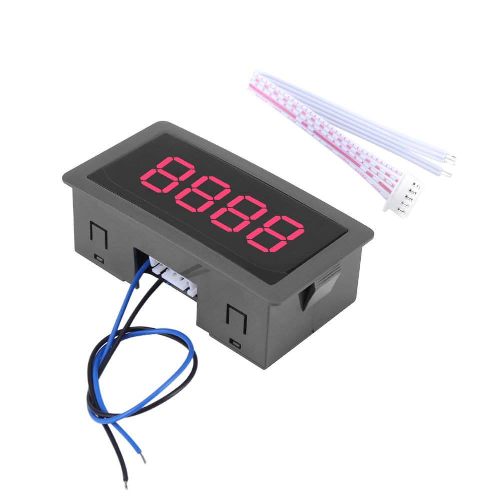Car Digital Counter Mini Traffic Counter Up//Down Plus//Minus Panel Meter with Cable 1.00V
