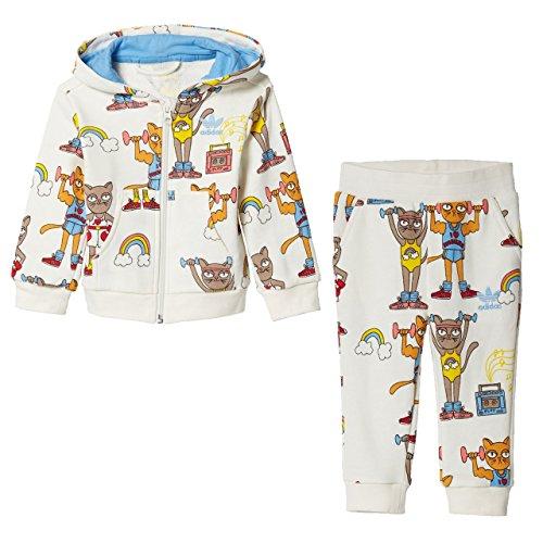 - adidas Originals Kids' Hooded Tracksuit Mini Rodini Tricot Zip Jacket and Pant Set (9 Month, Mini Rodini)