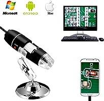Jiusion 40 till 1 000 x förstoring endoskop, 8 LED USB 2.0 digitalt mikroskop, minikamera med OTG-adapter och...