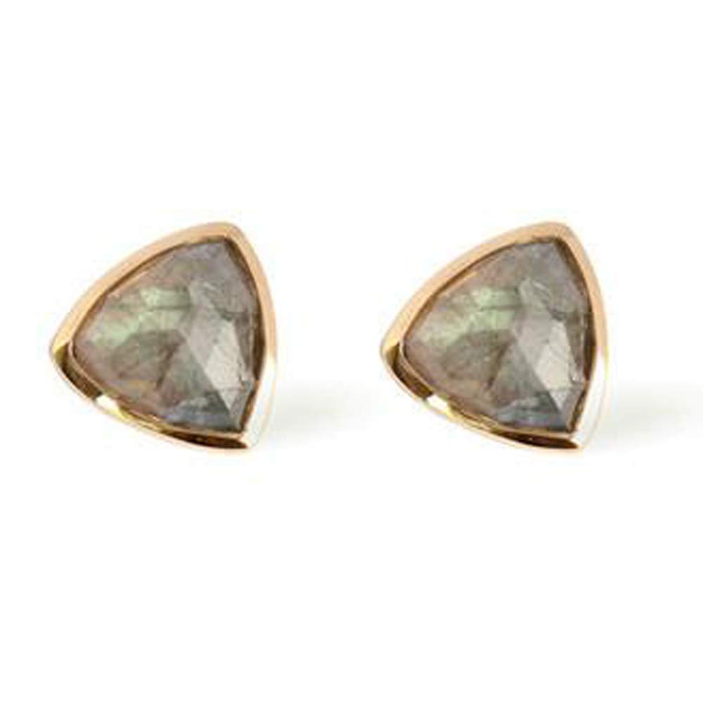 Nathis Labradorite Trillium Studs By Sizzling Silver