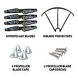 National Geographic Quadcopter Drone Crash Kit - 8 Propeller Blades, 8 Blade Protectors, 4 Propeller Blade Caps and 4 Propeller Blade Cap Screws