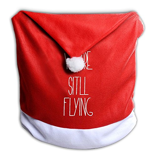 Christmas Seat Cover We Are Still Flying New Santa Clause Red Chair Hat 50X60cm Zhongraninc