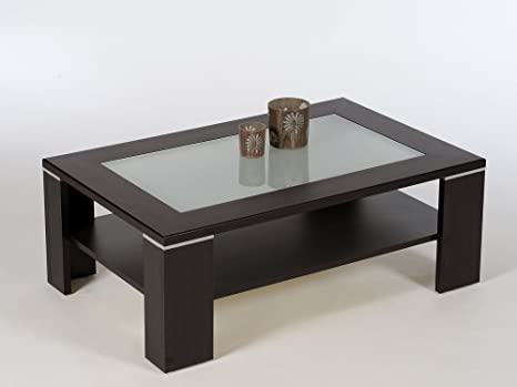 Tavolino Da Salotto Wenge.Proline Santos Tavolino Da Salotto Wenge Con Weissglas