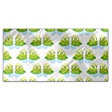 Twin Frogs Rectangle Tablecloth: Medium Dining Room Kitchen Woven Polyester Custom Print