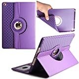 iPad Pro 10.5 Case,Dream Wings 360 Degrees Rotating Slim Stand with Card Slots Smart Screen Protective Detachable Case Cover for Apple iPad Pro 10.5 inch 2017 Released Tablet (iPad Pro 10.5, Purple)