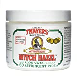 Beauty : Thayers Original Witch Hazel Astringent Pads With Aloe Vera Formula - 60 Ct