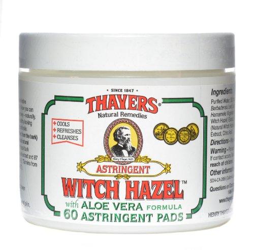 Thayers Original Witch Hazel Astringent Pads With Aloe Vera Formula - 60 Ct ()