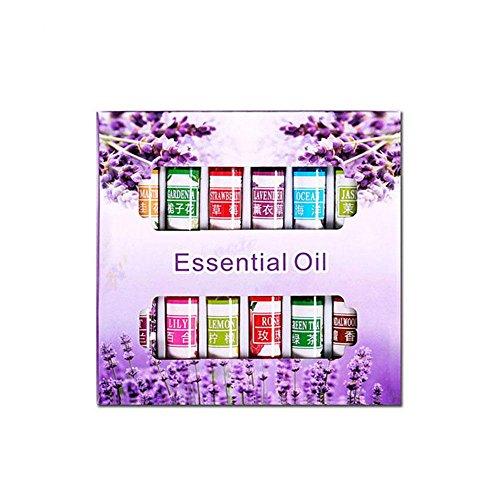 KOBWA Aromatherapy Essential Oils Set(12 X 5ml Oils)100% Pure Natural Therapeutic Grade Oils Set,Rose,Lavender,Lily,Jasmine,Sandalwood,Ocean,Violet,Gardenia Flower,Lemon,Osmanthus,Green Tea,Strawberry