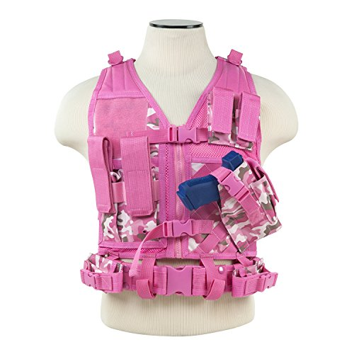 VISM by NcStar CTVC2916PC Tactical Vest, Pink/Camo, X-Small/