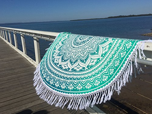 Popular Round Tapestry Ombre Mandala Round Roundie Beach Throw Indian Tapestry Hippie D