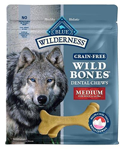 (Blue Buffalo Wilderness Wild Bones Regular Dental Chews Grain-Free Dog Treats, 27-Oz Bag)