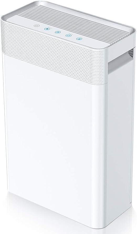 Purificador de Aire 5 en 1,con pre-Filtro,Filtro HEPA y Carbón Activado,Generador de Iones,Catalizador Frío y Temporizador Captura alérgenos,olores,sustancias contaminantes(CADR 230m³/h,28 dB,45 m²): Amazon.es: Hogar