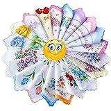 vintage handkerchiefs - Dillian Womens Vintage Floral Wedding Party Cotton Handkerchiefs,30pcs