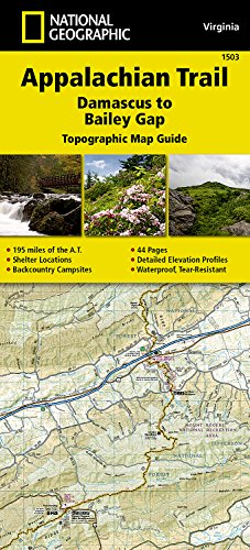 Appalachian Trail, Damascus to Bailey Gap [Virginia] (National Geographic Topographic Map Guide)