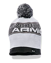 Under Armour Boys' Pom Beanie, Black (002), One Size