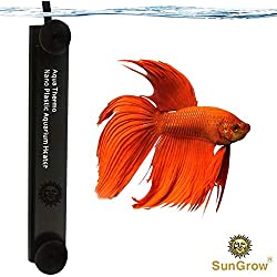 SunGrow Betta Heater, 10 Watts, for Small Tanks, Fully Submersible Aquarium Heater, Automatically Reaches Preset Temperature, Energy-Efficient Heating Module, Suction Cups Included