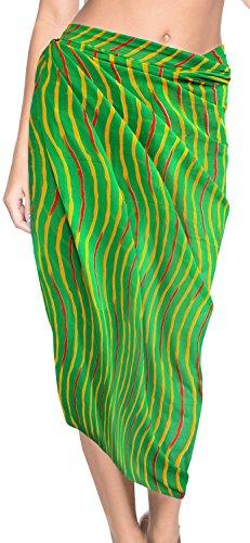 LA Couvrir Bain Bain Maillot Jupe Bain Maillots Beachwear de de de Robe Bikini chale h512 Costume Vert LEELA Wrap Orw7O