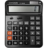 Everplus Black 14D Electronic Desktop Calculator with 14 Digit Large Display, Solar Battery LCD Display Office Calculator