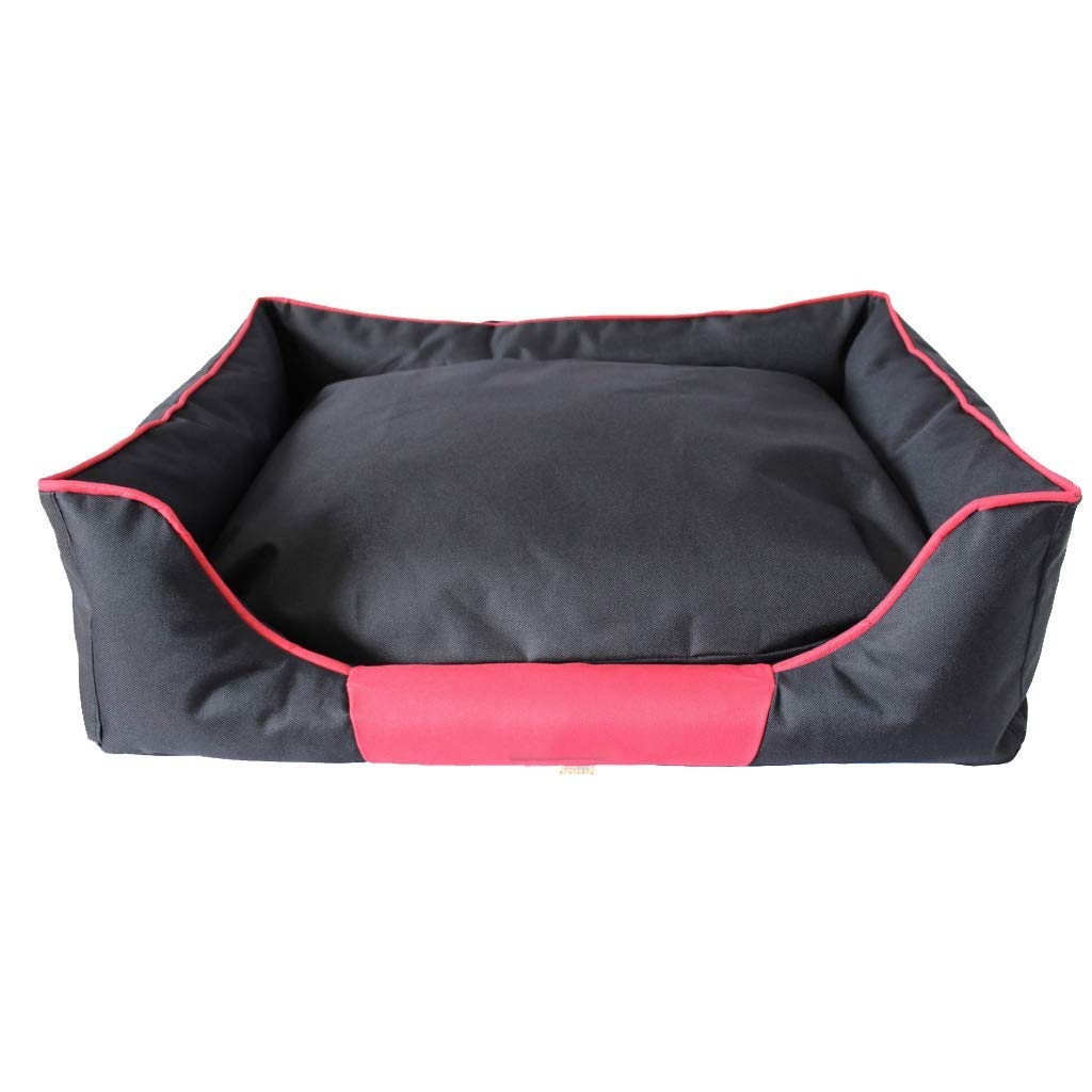 Kennel Pads Dog Beds Pet house Pet mat-Pet bed Black Pet Nest Four Seasons Universal Small And Medium Detachable Washable Velvet Dog Cat Litter Villa Warm Mat 70cmX56cmX20cm  @ Cat Bed Pet Supplies Co