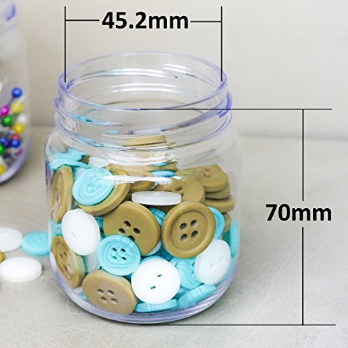Pegboard Accessories Organizer Storage Jars - Crush & Impact Resistant Plastic Caddy Craft Jars - One-Handed Locking System - Garage Workbench, Crafting, Tools, Jewelry, Sewing - Set of 12 (Blue) by WORLD AXIOM (Image #4)