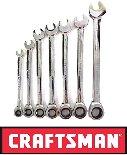 (Craftsman Ratcheting Wrench Set with Full Polish - 7 Piece Metric MM)