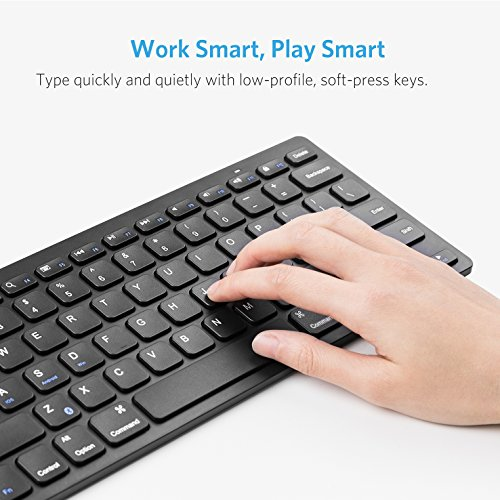 Anker Bluetooth Ultra-Slim Keyboard for iPad Air 2 / Air, iPad mini 3 / mini 2 / mini, iPad 4 / 3 / 2, Galaxy Tabs and Other Mobile Devices (Black) by Anker (Image #2)
