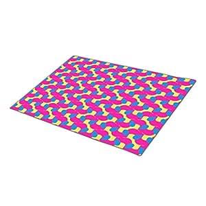 GB Plan Doormat Magenta Blue and Yellow Outdoor Floor Mats