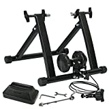 SUPER DEAL Indoor Magnet Steel Bike Bicycle Exercise Trainer Stand w/8 Levels Resistance Stationary (#1)