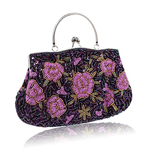 MOGOR, Borsa tote donna viola Purple medium