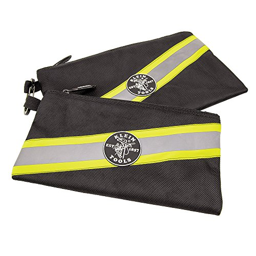 Klein Tools 55599 Tradesman Pro High-Visibility Zipper Bags 2 Pack