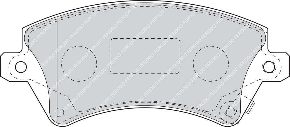 - 4-teilig Ferodo FDB1573 PREMIER Bremsbelagsatz Scheibenbremse - 4 St/ück