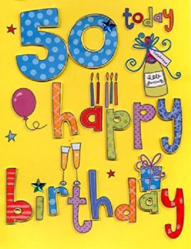 Extra Large 50th Birthday Card Amazon Kitchen Home
