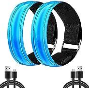 Rechargeable Walking Lights LED Armband / LED Bracelet for walking, Flashing High Visibility Led Running Light