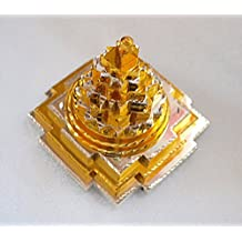 Vastu4Life BLESSED & ENERGIZED Sri Meru Yantra 3D with 11 Plates in Panchdhatu (Mixture 5 metals)-2Lx2Wx2H Inches-For Spiritual powers, Inner Doshas & Enormous wealth