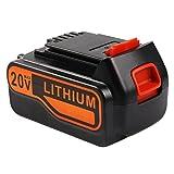 Enegitech 4.0 Ah 20v Lithium ion Rechargeable Battery Replacement for Black & Decker LBXR4020-OPE LB20 LBX20 LBXR20