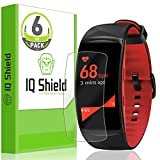 Samsung Gear Fit 2 Pro Screen Protector (6-Pack), IQ Shield LiQuidSkin Full Coverage Screen Protector for Samsung Gear Fit 2 Pro HD Clear Anti-Bubble Film