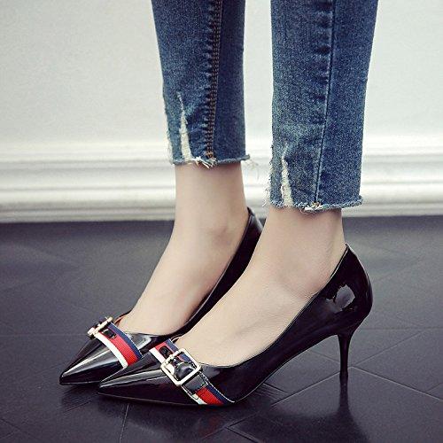 5Cm De Fina Mujeres Solo Zapatos Negro Los GAOLIM De Mujer Primavera Alto De Zapatos Con Tacón Las Con Verano Punta Zapatos d8YPYwzq