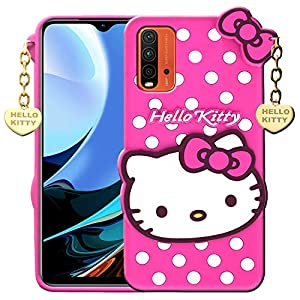 RANCE Back Cover for Redmi 9 Power(Rubber/Pink)