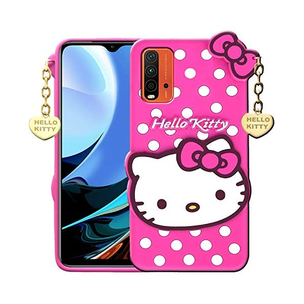 RANCE Back Cover for Redmi 9 Power(Rubber/Pink) 2021 July ❤ {Perfect fit for Redmi 9 Power Case, provides scratch protection function,add more convenience to you.} ❤{Soft Silicone Rubber Material brings out comfortable hands feelings.} ❤{Quick and easy access to ports and buttons.}
