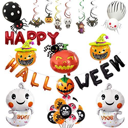 Halloween Balloon Decor - D-buy 46 Pcs Halloween Aluminum Balloon
